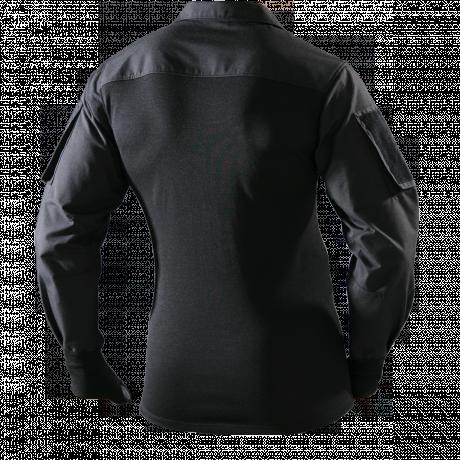 Combatshirt mit Kragen schwarz Rückseite