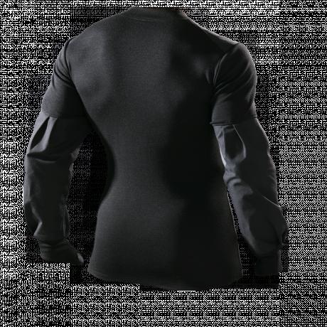 Einsatzpullover Flammschutz schwarz Rückseite
